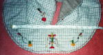 Early medieval embroidered hood, detail