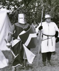 Medieval surcoat (left) and gambeson / acheton (right)